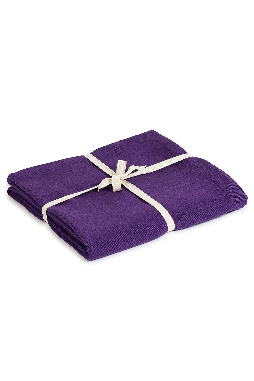 Estudio de Yoga algodón orgánico Yoga Manta, Morado: Amazon.es ...