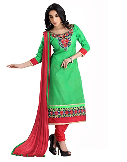 a9c4b9c2f Lookslady Chanderi Party Wear Indian Dresses Salwar Kameez Dupatta Set:  Amazon.in: Clothing & Accessories