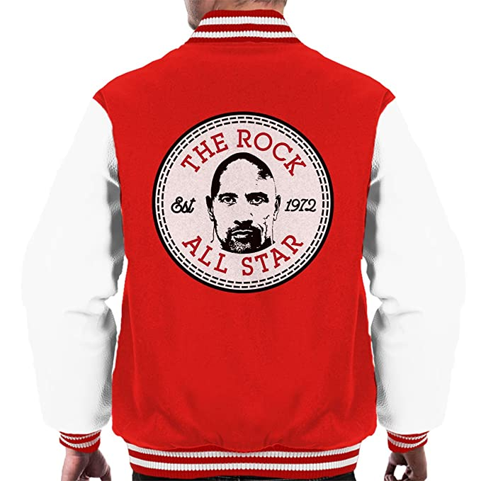 Dwayne The Rock Johnson All Star Converse Logo Mens Varsity Jacket