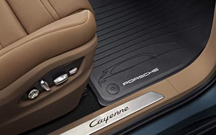 Image Unavailable. Image not available for. Color: Porsche Cayenne All Weather Floor Mats ...