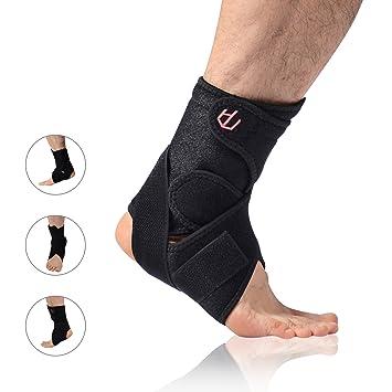Bandagen & Gelenkstützen Unterstützung Knöchelschutz Atmungsaktiv Fuß Verstauchungen Schwarz Elastisch Bekleidung