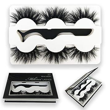 f7283c2692a Mikiwi 3 Styles Fluffy Mink Eyelashes, Mink Lashes, 5D Mink Lashes, Mink  Eyelashes