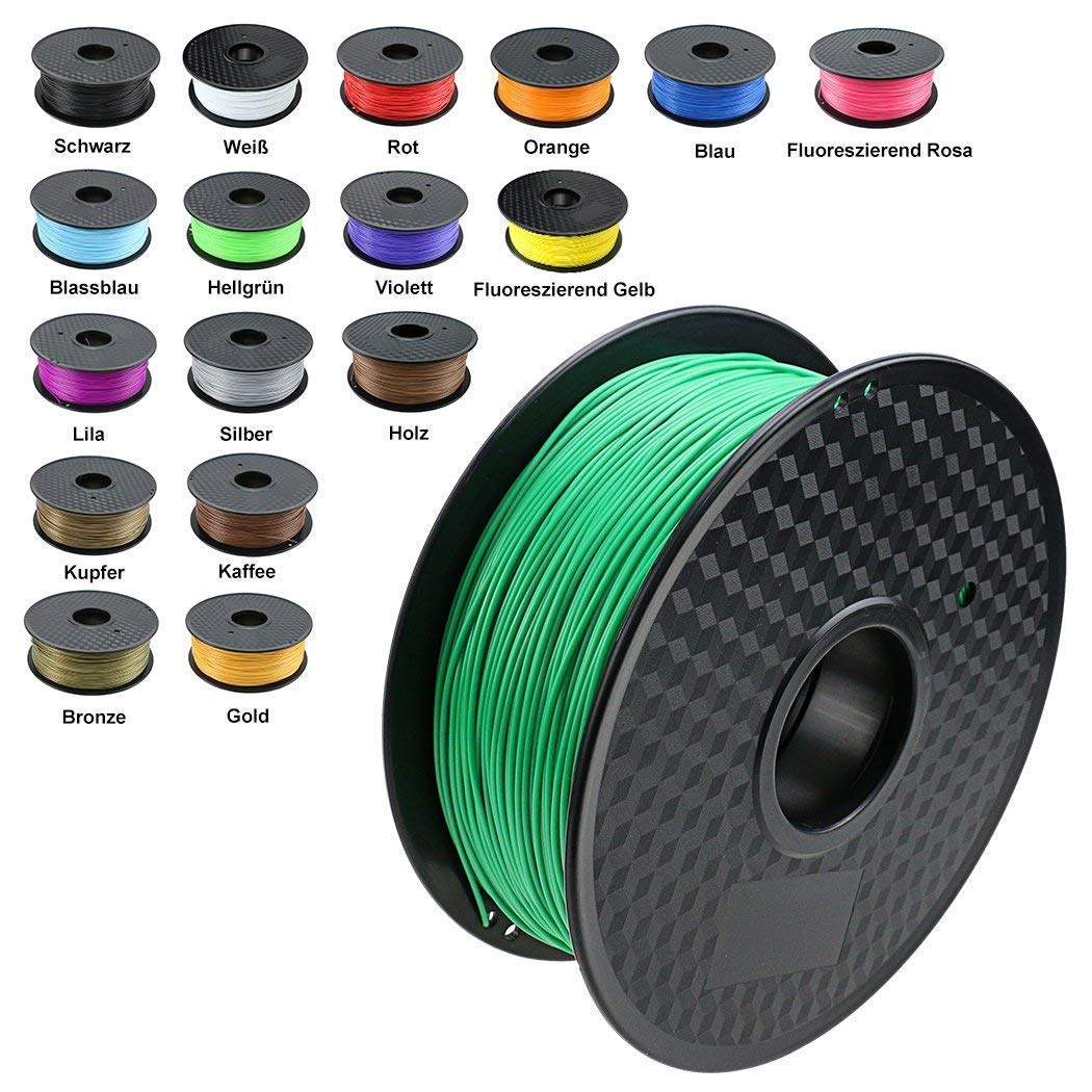 TIANSE Green PLA 3D Printer Filament 1.75mm 1KG Spool Filament for 3D Printing, Dimensional Accuracy +/- 0.03 mm