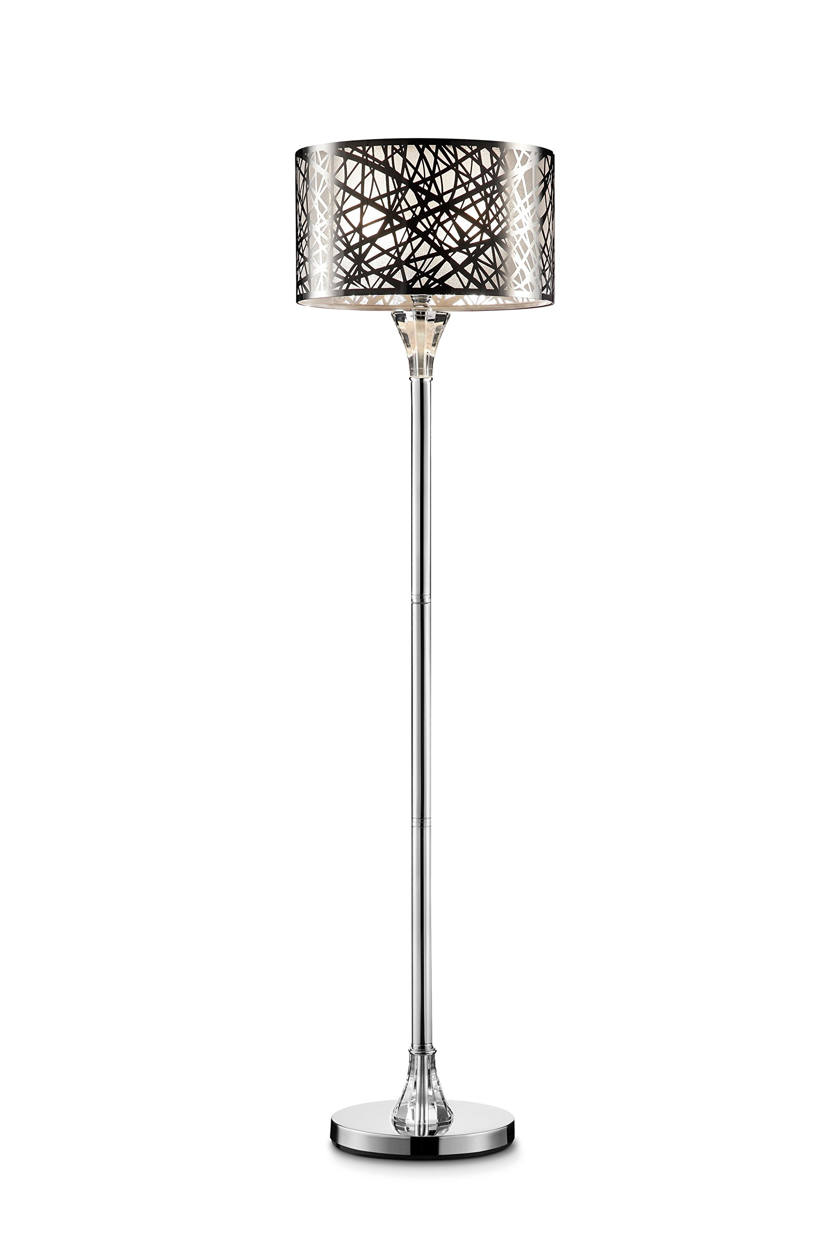 """Ore International K-5148F Array 61"""" H Crystal Floor Lamp - The array Crystal floor lamp is intended as a statement piece for interiors as well as a functional light source Modern, contemporary and sleek design that perfectly blends into a living room or a bedroom, even for your office desk UL listed for product safety. Base finish: Chrome steel. Hardware finish: Chrome steel. Material: metal - living-room-decor, living-room, floor-lamps - 71nDNi2qsvL -"""