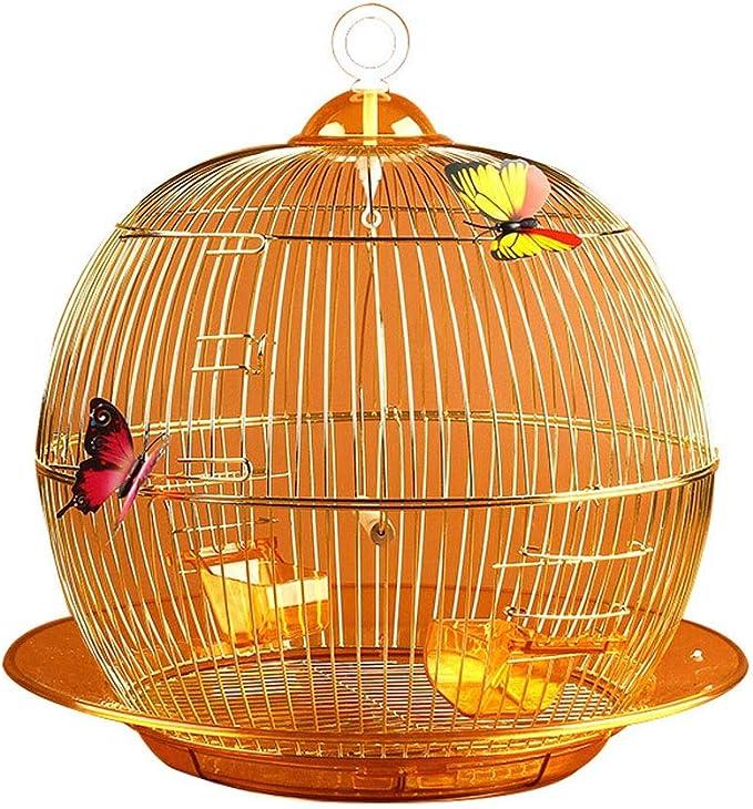 Jaula para Pájaros/Jaula para Aves Jaula de loros aristocrática dorada de estilo europeo Moda exquisita decorativa Ornamental Jaula de pájaros Jaula de cría de aves de interior al aire libre Jaula Páj