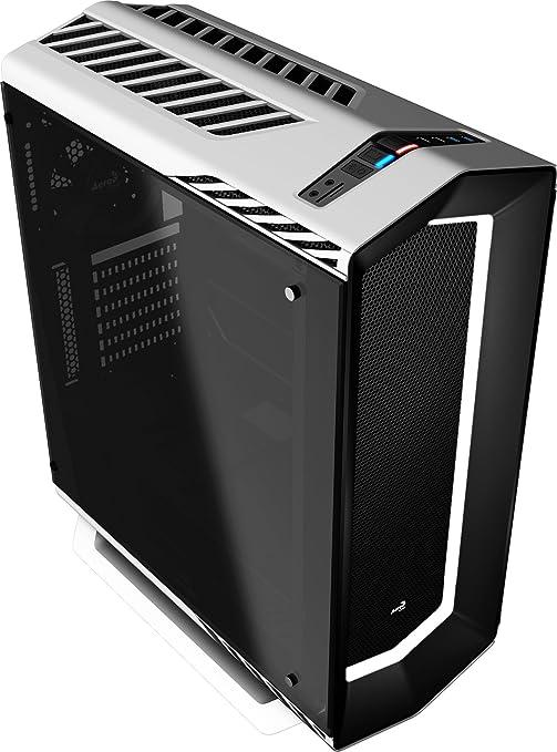 Aerocool P7C1WG, caja gaming PC ATX, LED 8 colores, ventilador trasero, Blanco con cristal templado Única: Aerocool: Amazon.es: Informática