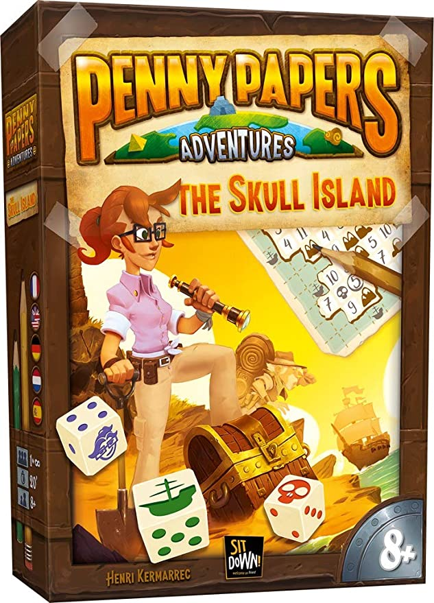 Sitdown Penny Papers Adventures: Skull Island - Deutsch English Francais Nederlands: Amazon.es: Juguetes y juegos