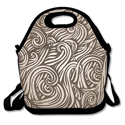 ce33f1db339e Abstract Style Of Hair Insulated Lunch Bag - Neoprene Lunch Bag - Large  Reusable Lunch Tote