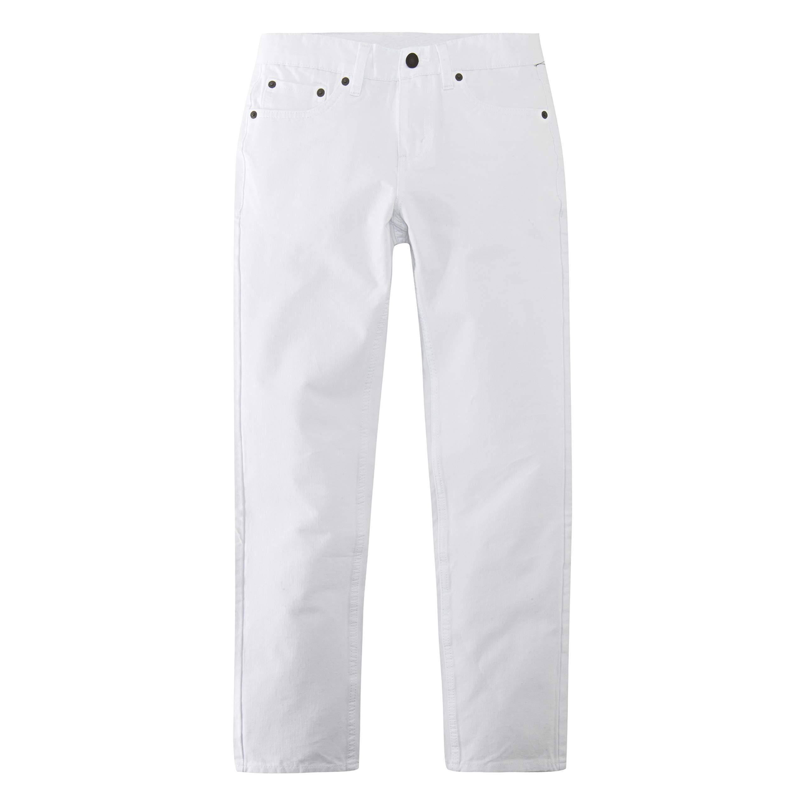 Levi's Boys' Big 502 Regular Fit Taper Jeans, White, 10