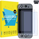MoKo Screen Protector for Nintendo Switch(2 Pack), Tempered Glass HD Clear Anti-Fingerprint & Anti-Bubble Film for Nintendo Switch 2017