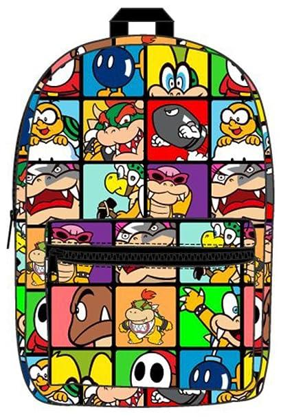 Oficial Nintendo Super Mario villanos subliman Laptop mochila - escuela: Amazon.es: Ropa y accesorios