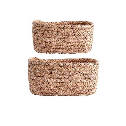 PLL Cesta de almacenamiento original tejida a mano ecológica Caja de ...