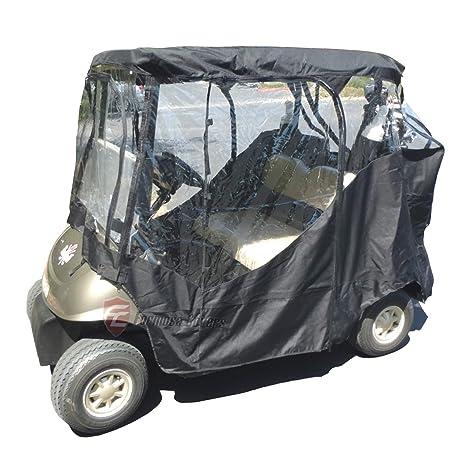 Negro carro de golf conducción almacenaje 2 plazas Heavy ...