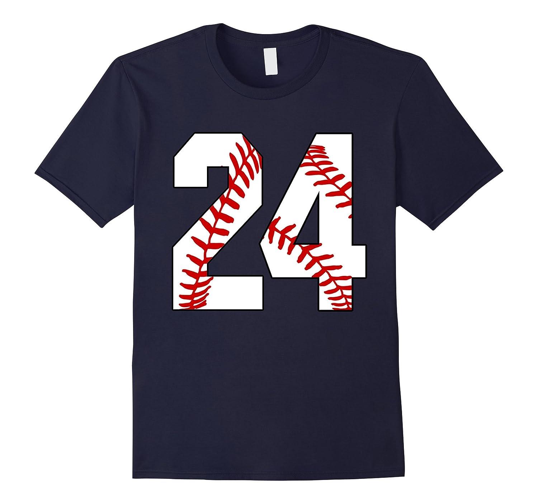 24 Baseball Lover Twenty-Four Player Baseball Mom T-shirt-PL