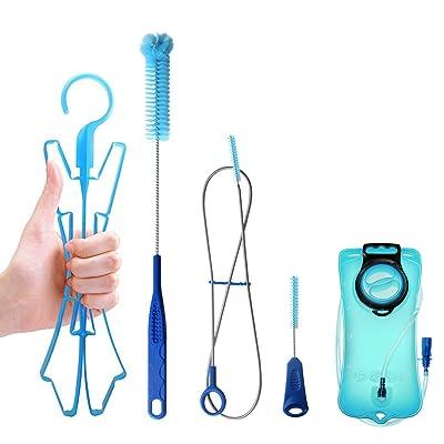 Tagvo kits de nettoyage de sacs à eau / 3L sans BPA Réservoirs d'eau anti-fuite avec des trousses de nettoyage et de séchage Materiel TPU Anti-bactérie pour poche à eau 4 en 1 Nettoyant Lot