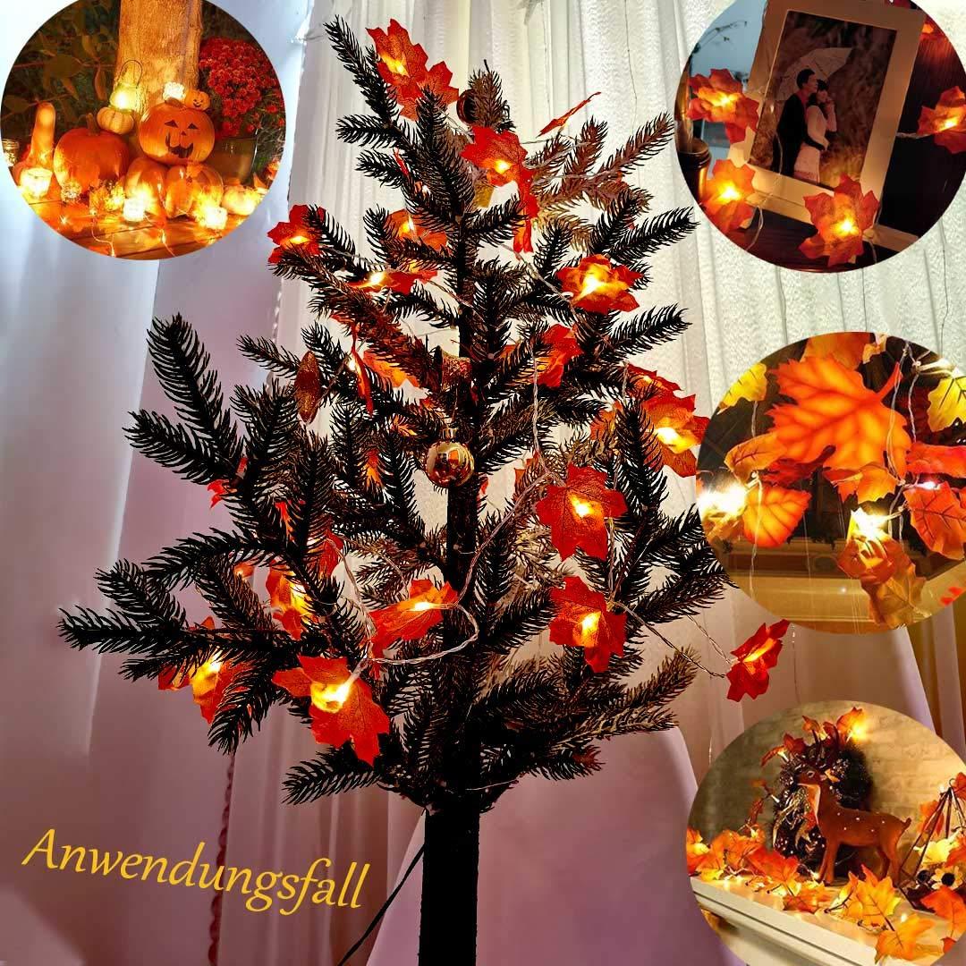 citrouille halloween deco automne decoration de noel sapin maison nature rampe escalier guirlande feuille lumineuse arbre de noel plante artificielle led a pile pour balcon centre de table mariage