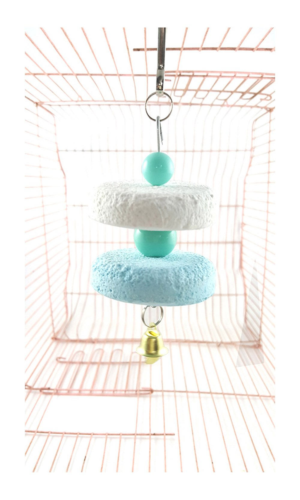 PetsMostHome Mineral Grinding Series of Parrot To Argue Pointlessly Stone Toys Bird Perches 3 Colors 2 Pieces a Set