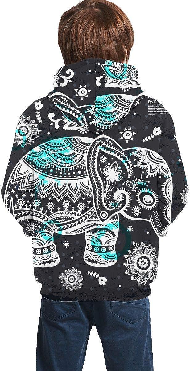 Vintage Lotus Ethnic Men 3D Print Pullover Hoodie Sweatshirt with Front Pocket