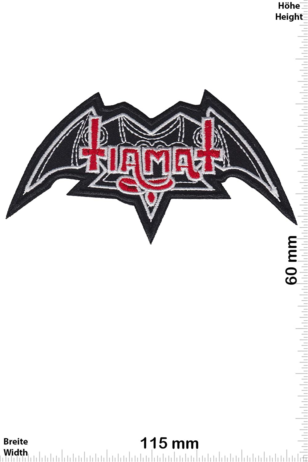 Patch - Tiamat - Gothic Metal - Red Silver -Musique - -Tiamat - Iron on Applique Embroidery Écusson brodé Costume Cadeau- Give
