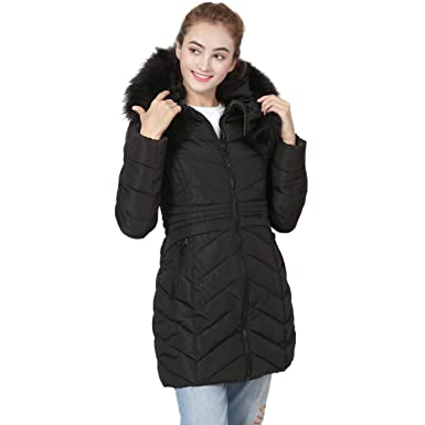 dcf3b0a4d08 VERGOODR Winter Warm Women s Plus Velvet Long Sleeve Slim Long Down Jacket  with Hood (XS