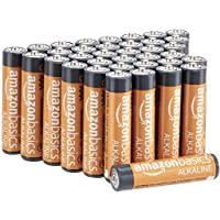 AmazonBasics 36 Pack AAA High-Performance Alkaline Batteries, 10-Year Shelf Life...