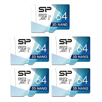 Silicon Power - Tarjeta microSD con Adaptador (64 GB, 5 ...