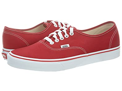 52729158ce Vans Unisex Authentic Red Canvas VN000EE3RED Mens 4.5