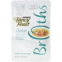 Purina Fancy Feast Broths Chicken & Vegetables in a Decadent Silky Broth, 40 g