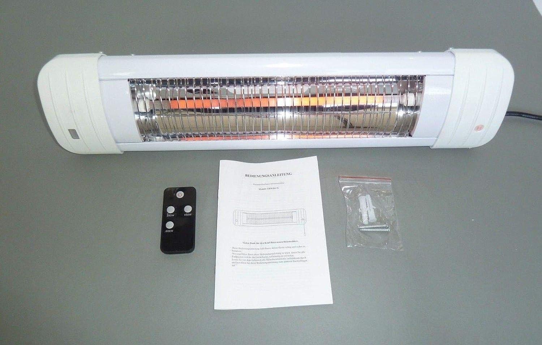 T/üv Table A Langer Chauffage Chauffage Radiant Projecteur Mural Pivotante 600 Watt avec Mise Hors Tension Automatique et Fernbedienung