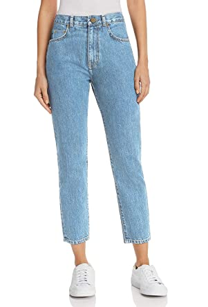 MONYRAY Damen Tapered Boyfriendjeans Hohe Taille in Mom Fit