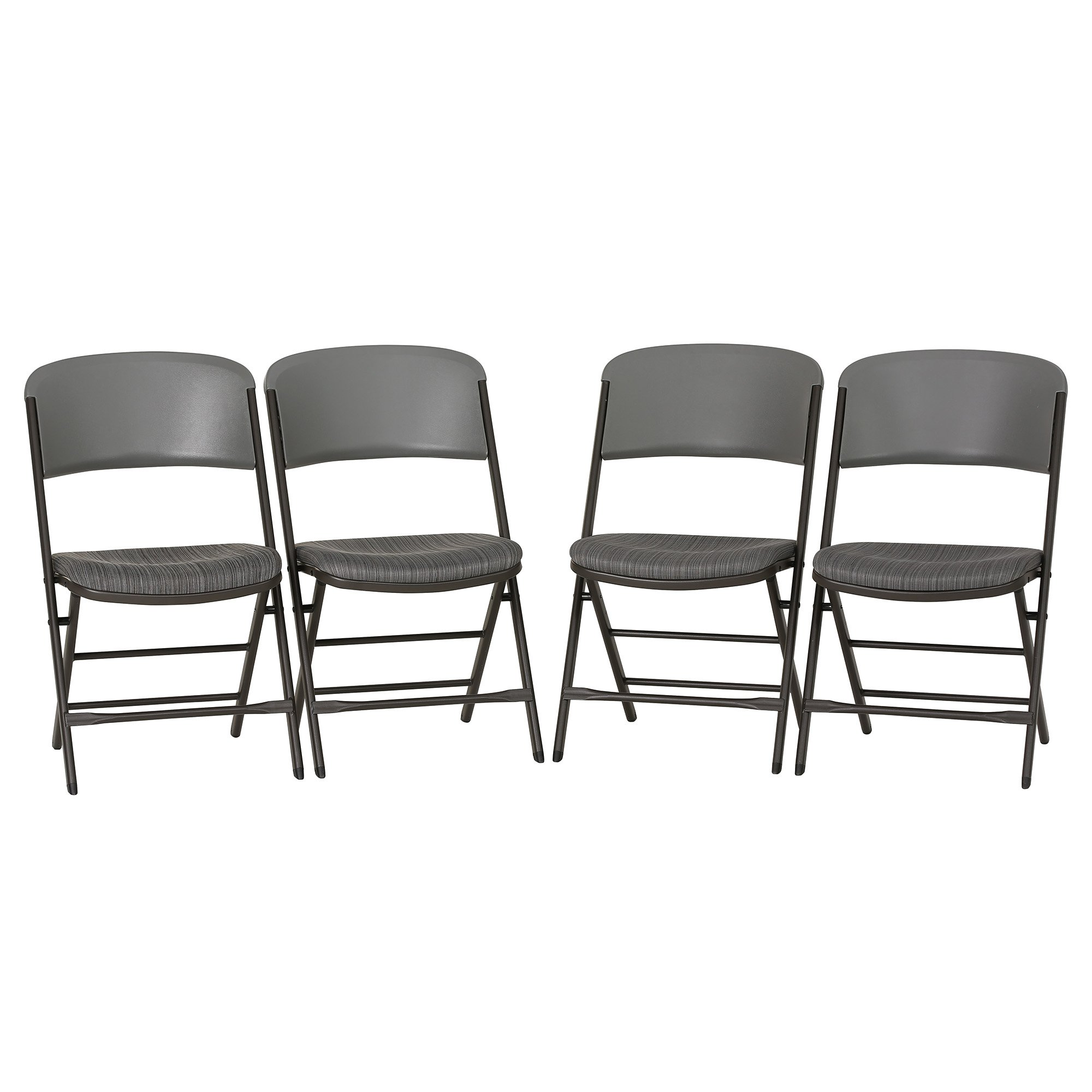 Lifetime 480426 Padded Commercial Folding Chair, 4-pack, Gray