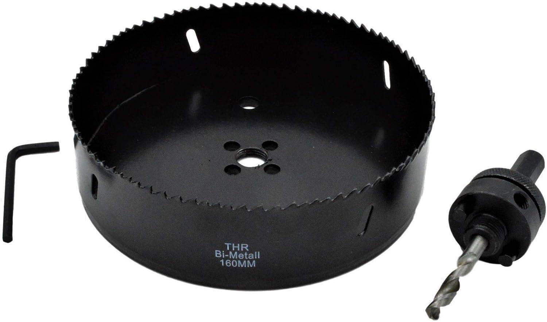 bois foret OSB Scie cloche 160 mm HSS bi-m/étal avec support pour plaques de pl/âtre