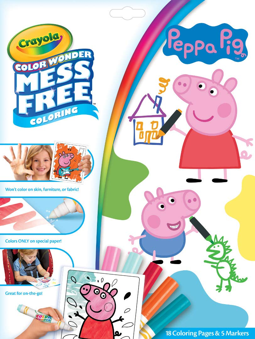 Crayola Color Wonder Peppa Pig Coloring Pages, Mess for Kids, Age 3, 4, 5, 6