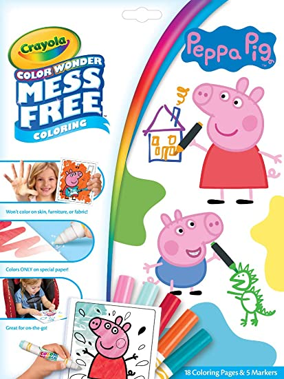 Amazoncom Crayola Color Wonder Peppa Pig Coloring Pages Mess Free