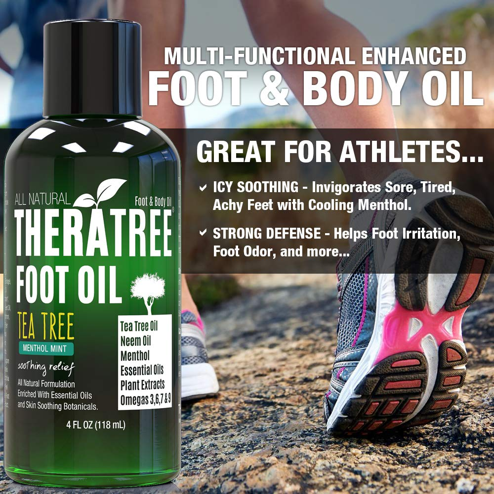 Amazon.com: Aceite de pie con aceite de árbol de té, aceite ...