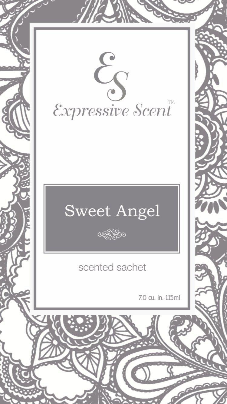 Expressive香り6パックSweet Angel Large Scented Sachet封筒by B07CSQTDKL