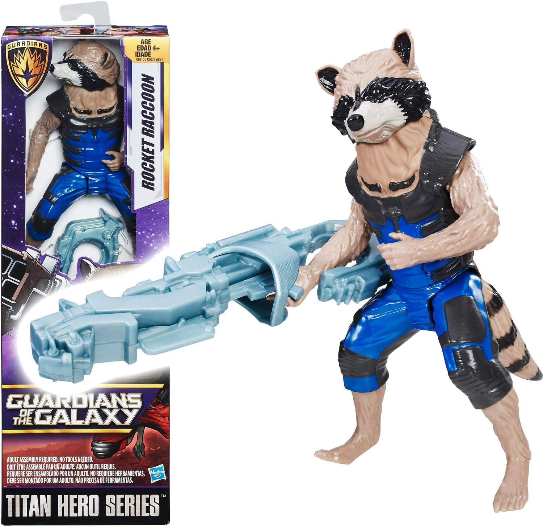 Avengers E2070EL2 War Rocket Raccoon and Groot with Infinity Stone Figure Hasbro