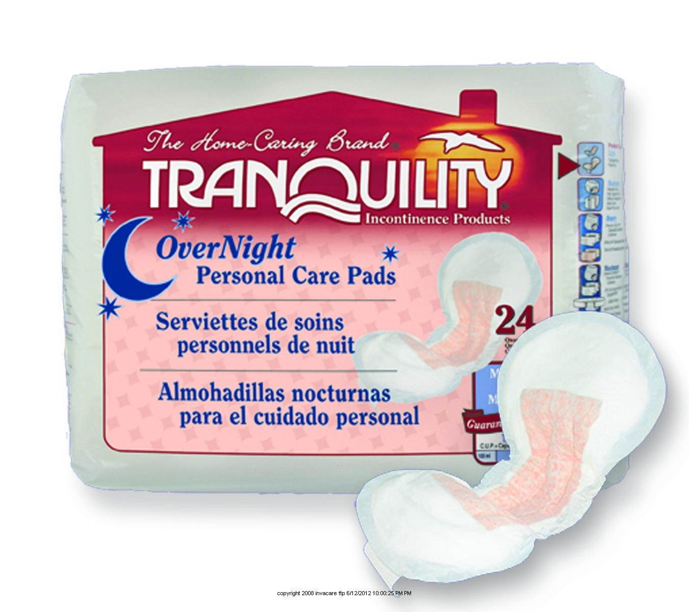 PU2382PK - Tranquility Personal Care Pads 16.5 x 7.25