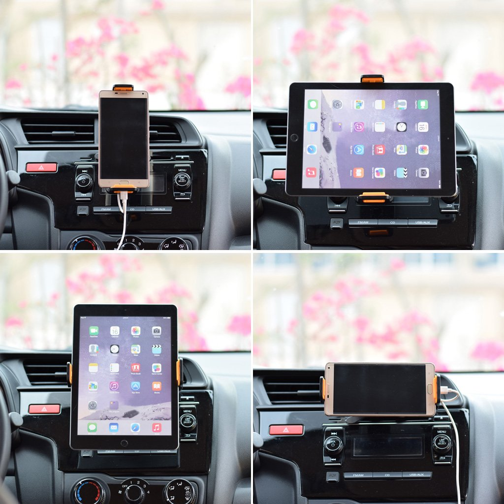 Car holder,NNDA CO Universal 360 Degree Rotating Car Air Vent Mount Holder  Stand For iPhone iPad GPS Xiaomi Samsung LG Tablet 4-10 Inch, ABS