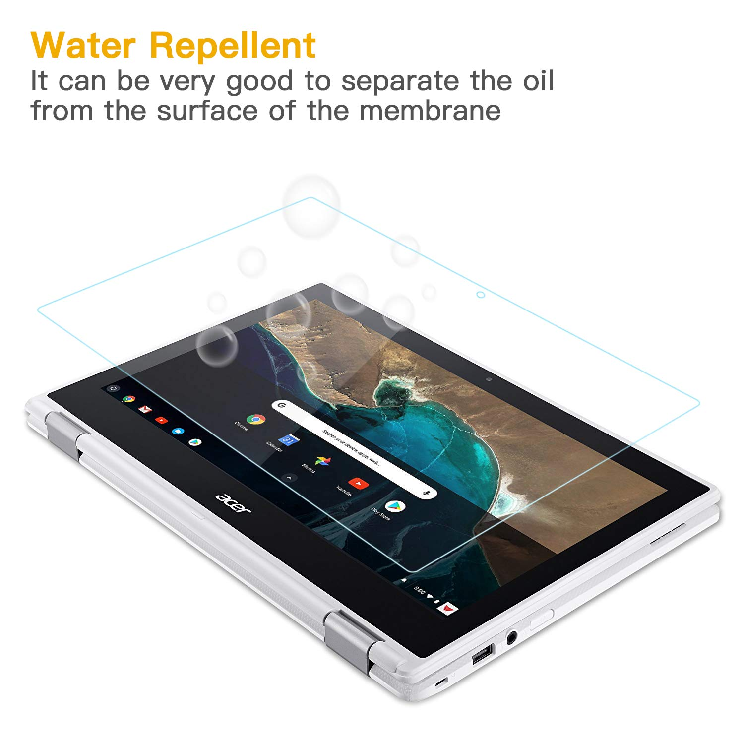 """with Large Cleaning Cloth FORITO 15.6 Laptop Tempered Glass Screen Protector Compatible with 15.6/"""" HP//DELL//Asus//Acer//Sony//Samsung//Lenovo//Toshiba//Razer Laptop with 16:9 Display Bubble Free"""