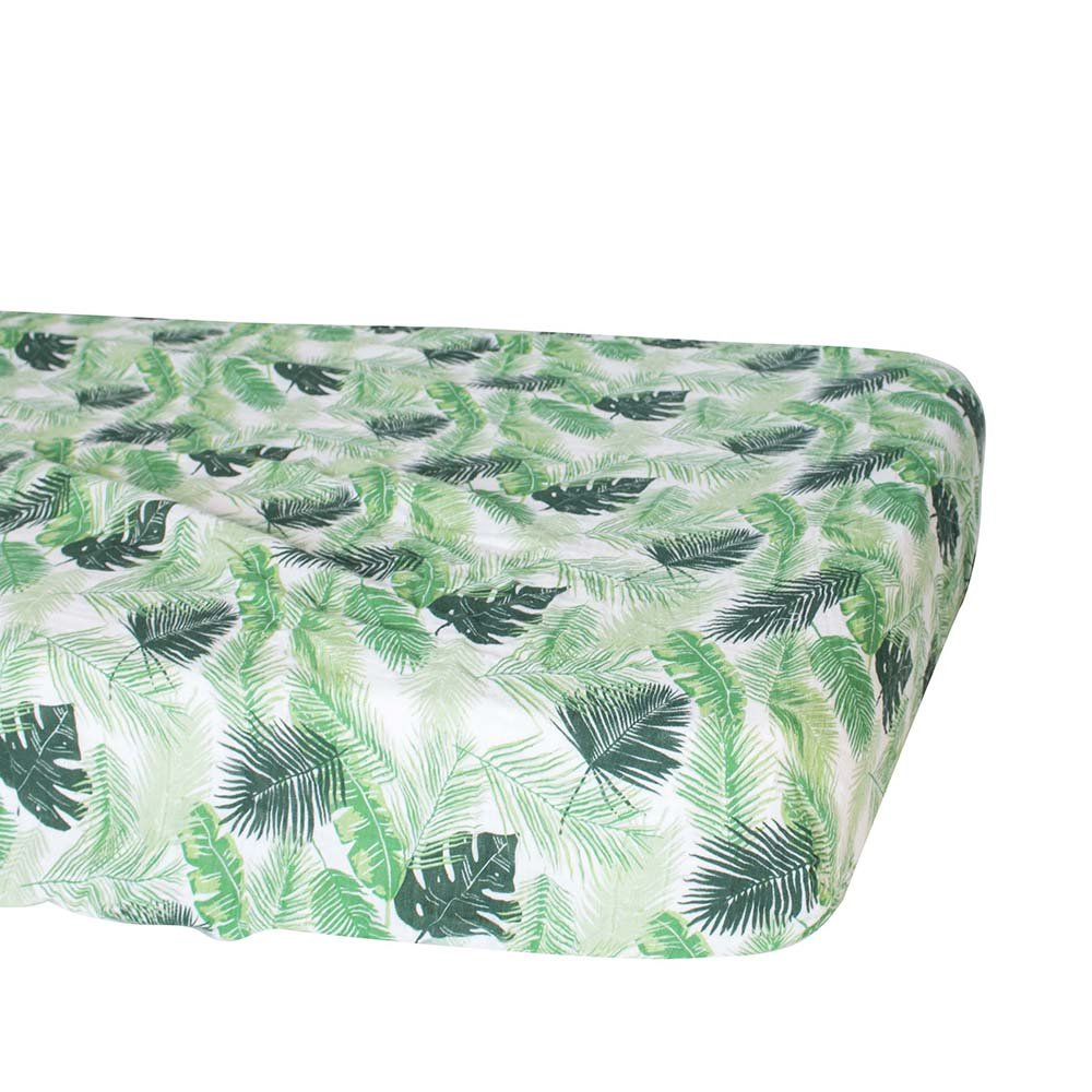 Bebe au Lait Classic Muslin Crib Sheet, Palms by Bebe au Lait