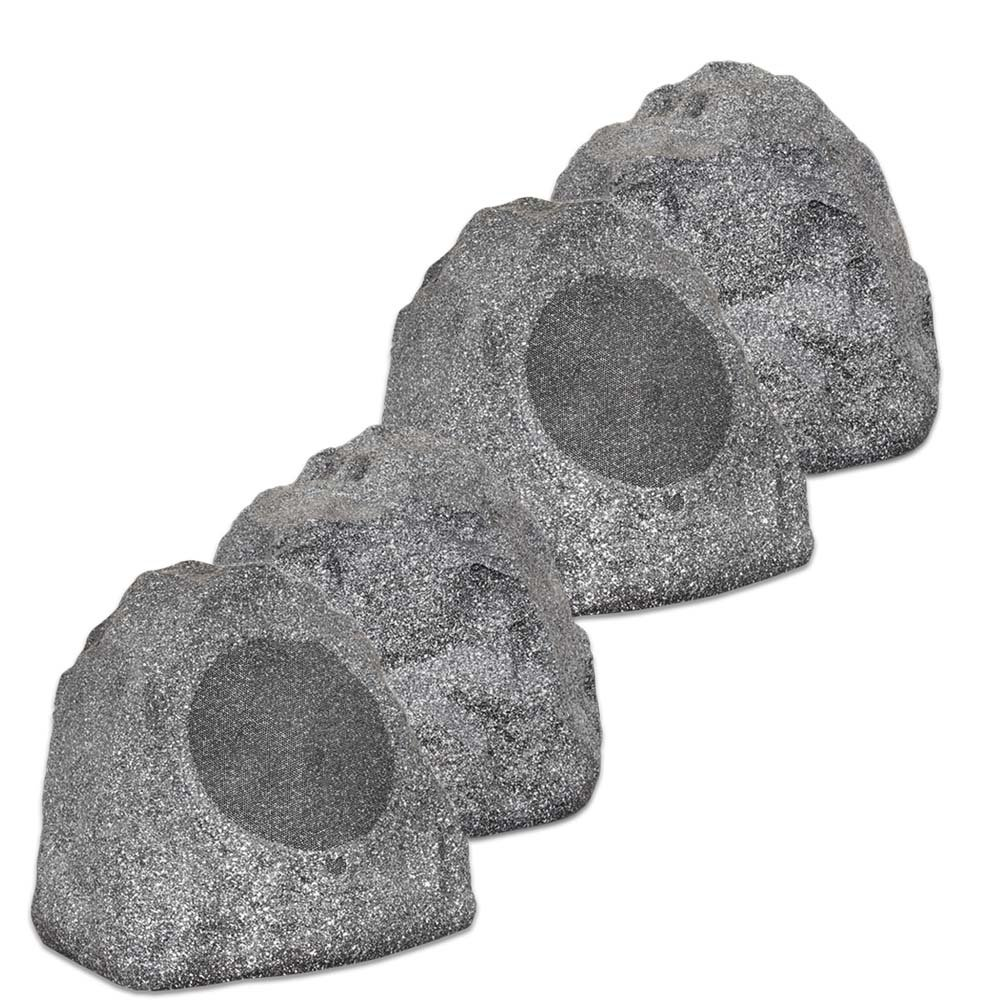 Theater Solutions 4R8G 2 Pairs of New 8'' Woofers Outdoor Garden Waterproof Granite Rock Patio Speakers
