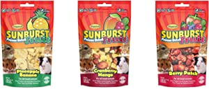 Higgins Sunburst Freeze-Dried Fruit Variety Pack, 3 0.5-Ounce Bags, Healthy Small Pet Treats