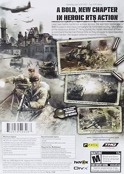Amazon Com Company Of Heroes Opposing Fronts Pc Video Games