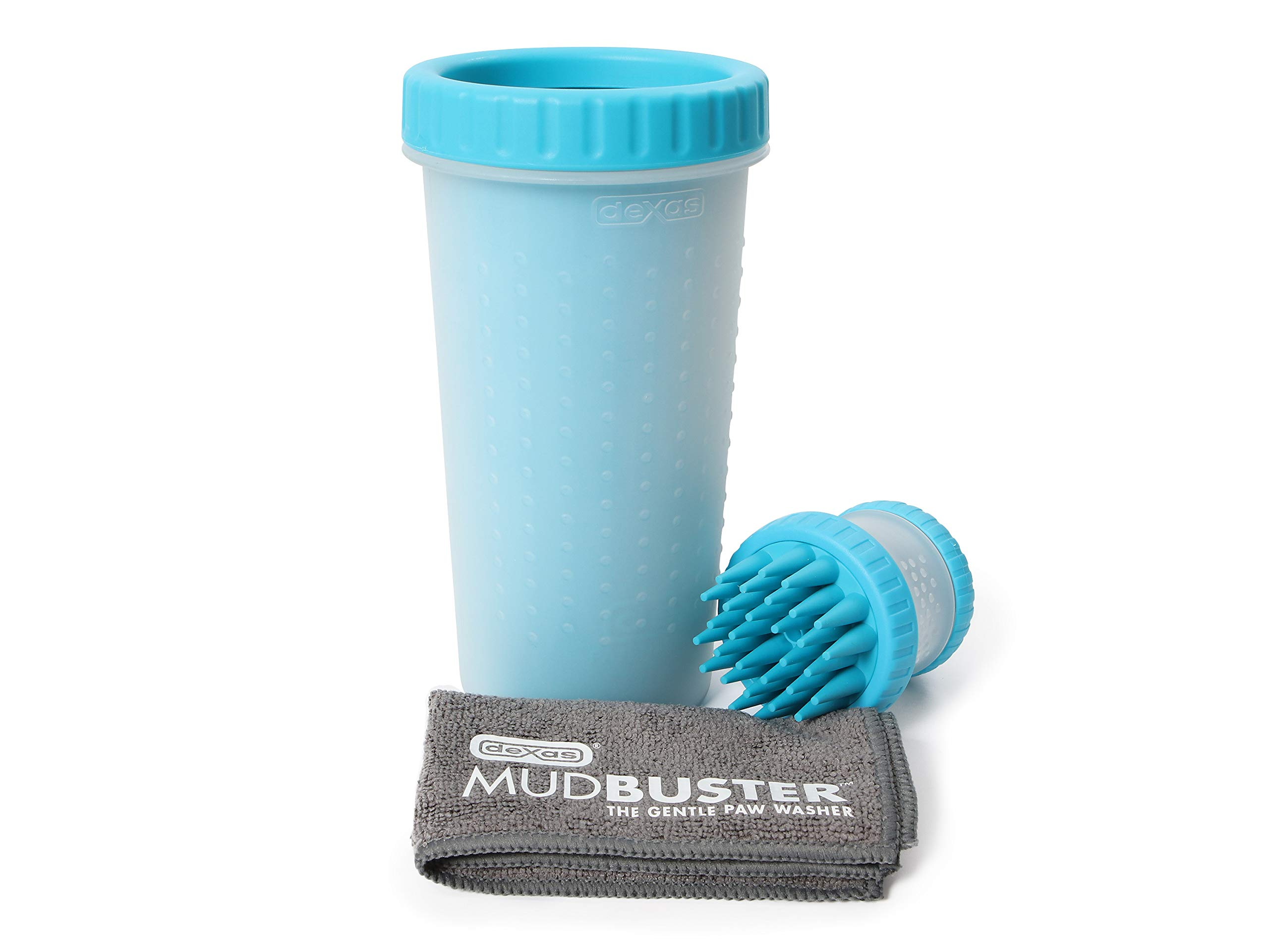 Dexas PW720730312Q Large Blue MudBuster, Blue ScrubBuster and Towel