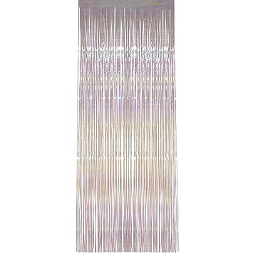 Cortina Brillante Visillo De Hilos Con Brillo 91 X 244 Cm