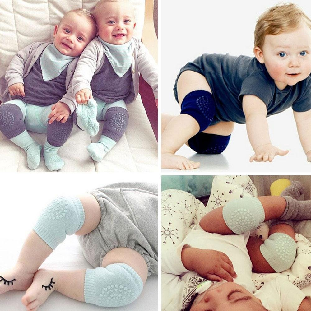 Girls 2 Years Unisex Baby Toddlers,Infants Boys 2 Pair Baby Crawling Anti-Slip Knee Pads Adjustable Anti-Slip Knee Elbow Pads for 6 Months