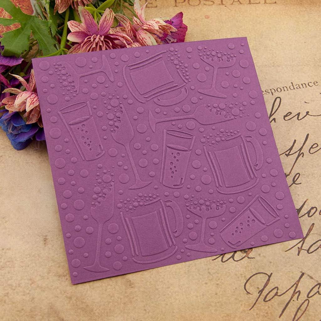 Plastic Embossing Folder Template DIY Scrapbook Photo Album Card Making Decoration Crafts Heart RUZYY Embossing Folder