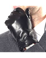 WARMEN Classic Men's Nappa Leather Driving Lined Winter Warm Gloves Plain Style