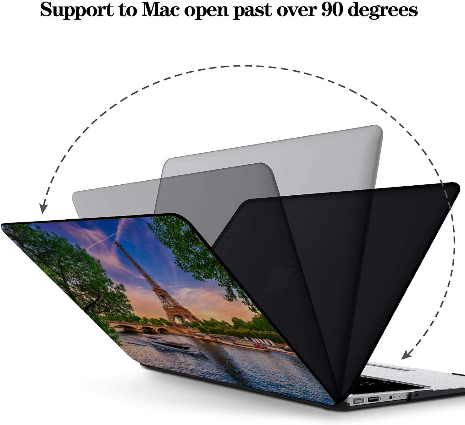 MacBook Air Laptop Cover Scenic Freedom Travel City French Plastic Hard Shell Compatible Mac Air 11 Pro 13 15 MacBook Pro 2017 Accessories Protection for MacBook 2016-2019 Version